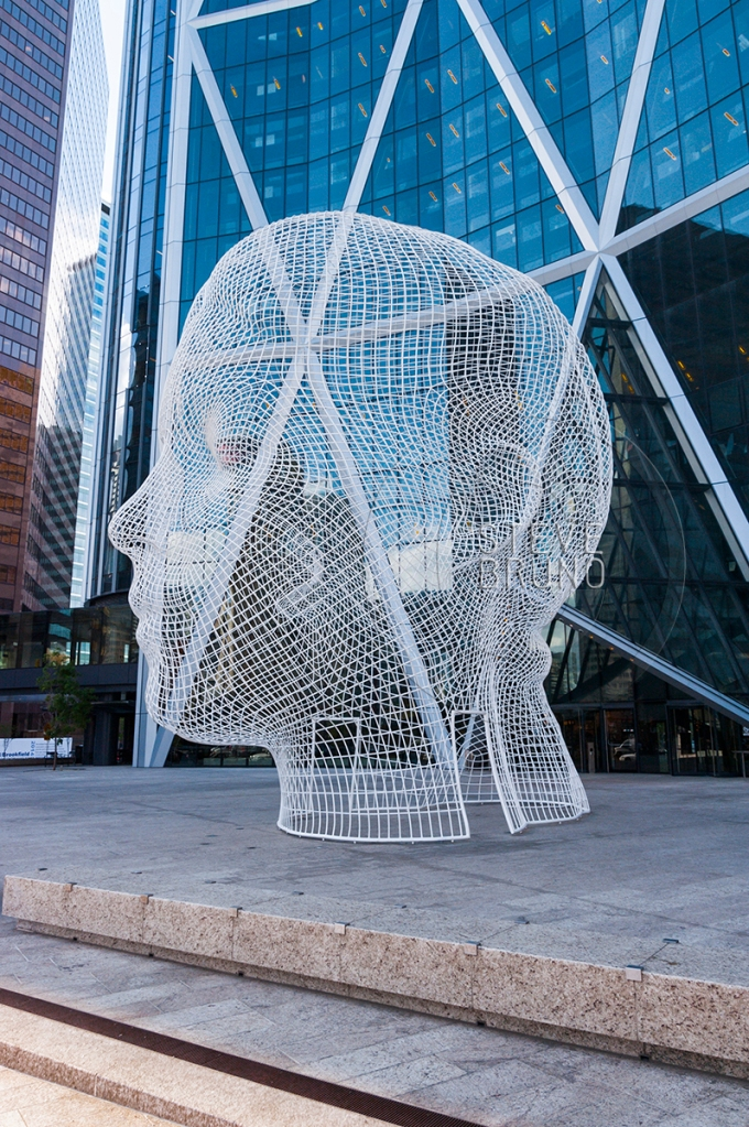 Calgary-Steve Bruno-Wire Frame Sculpture