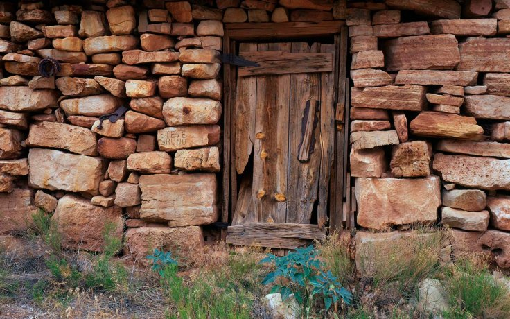 Door to Eddie's Place in the Kanab Creek Wilderness, western Grand Canyon by Steve Bruno