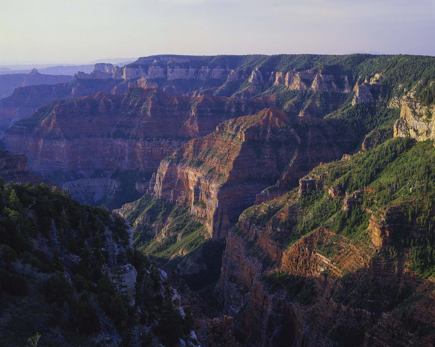 Grand Canyon looking south and east from Point Imperial by Steve Bruno, 1988