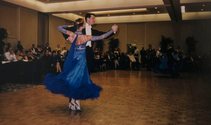 Competitive ballroom dancers, photo by Steve Bruno