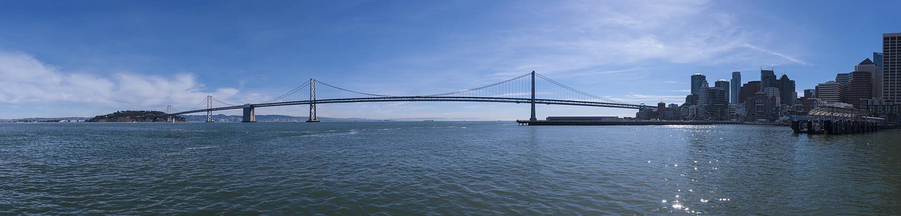 the Bay Bridge, San Francisco, California, photo by Steve Bruno