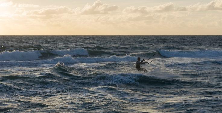 Paraboarding Atlantic Ocean