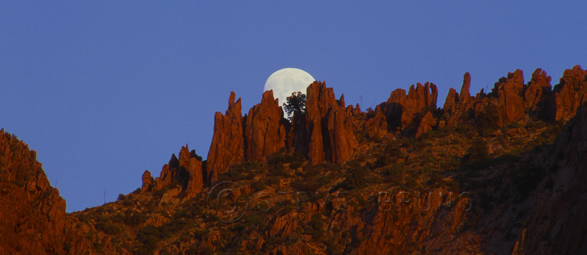 moonrise, Superstition Mountains, Arizona