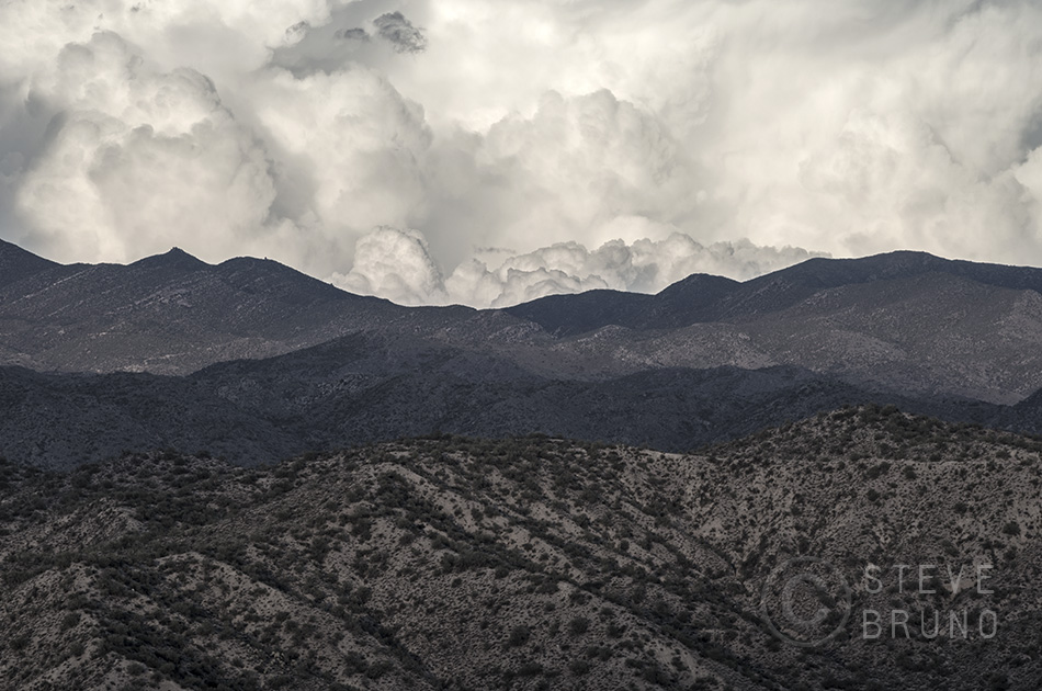 storm clouds over the desert in western Arizona