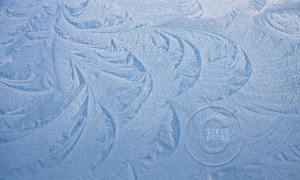 Window frost detail