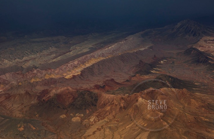 Desert ridges by stormlight outside of Las Vegas, Nevada, Steve Bruno