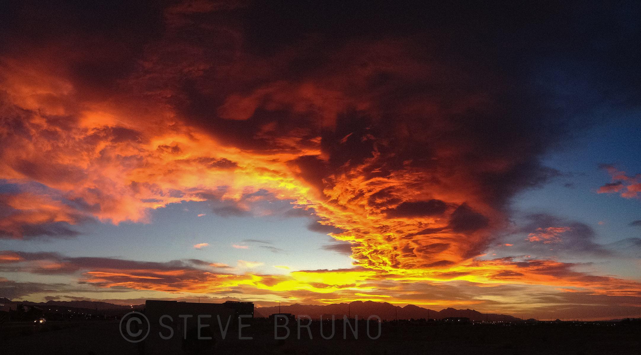 sunset, Las Vegas, Nevada