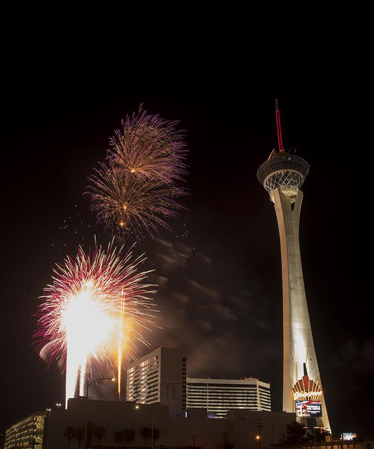 Fireworks, Stratosphere, Las Vegas, 2016 by Steve Bruno