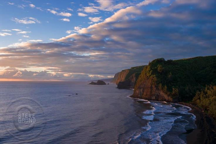 Hawaii Oceanside Cliffs at Sunrise