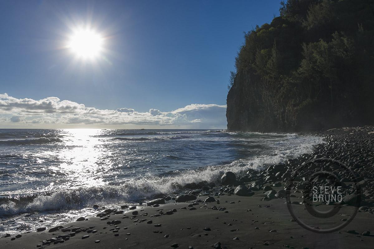 Morning Sun Black Sand Beach Hawaii