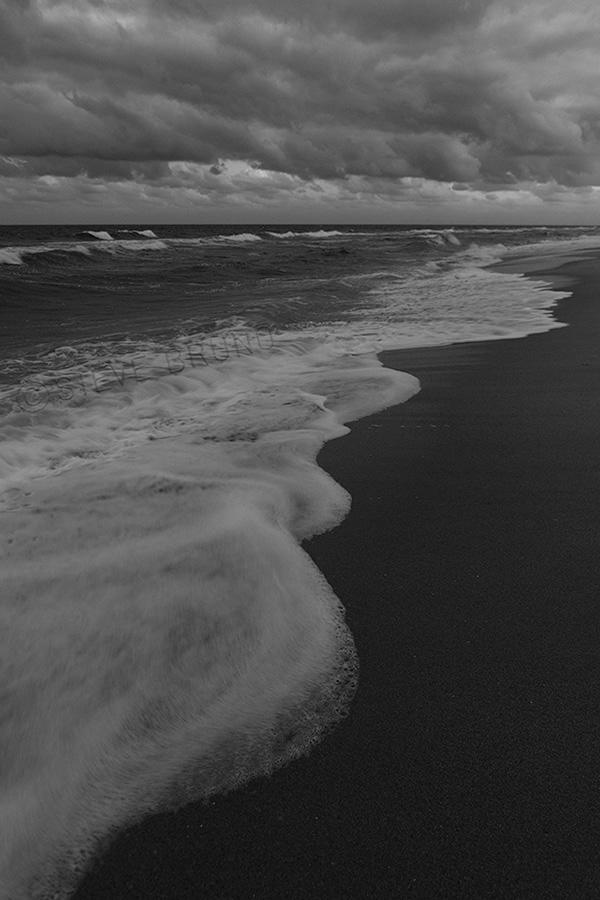 Atlantic Ocean and storm clouds