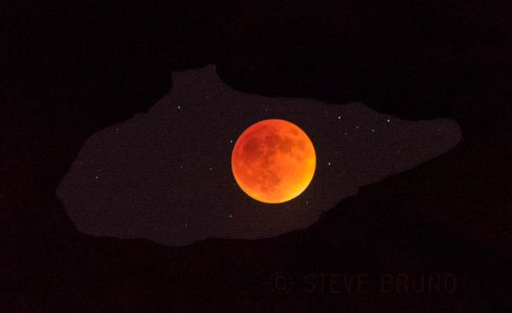 Blood Moon inside arch at VOF by Steve Bruno