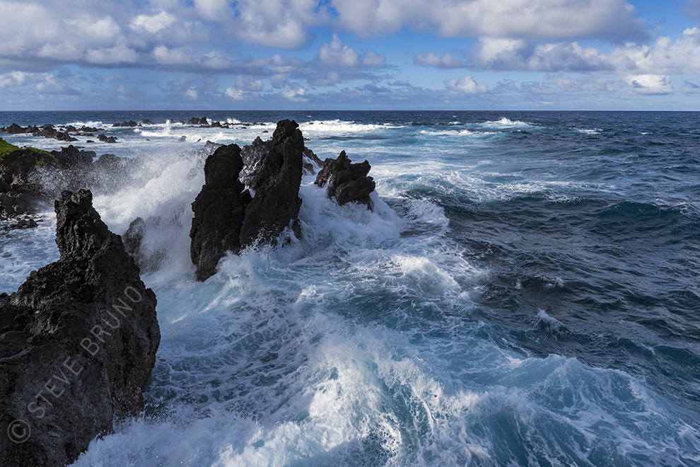 waves, lava, Hawaii, Pacific Ocean, Steve Bruno