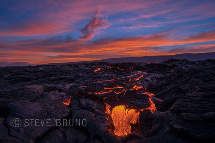 lava flow, Hawaii, sunset, gottatakemorepix