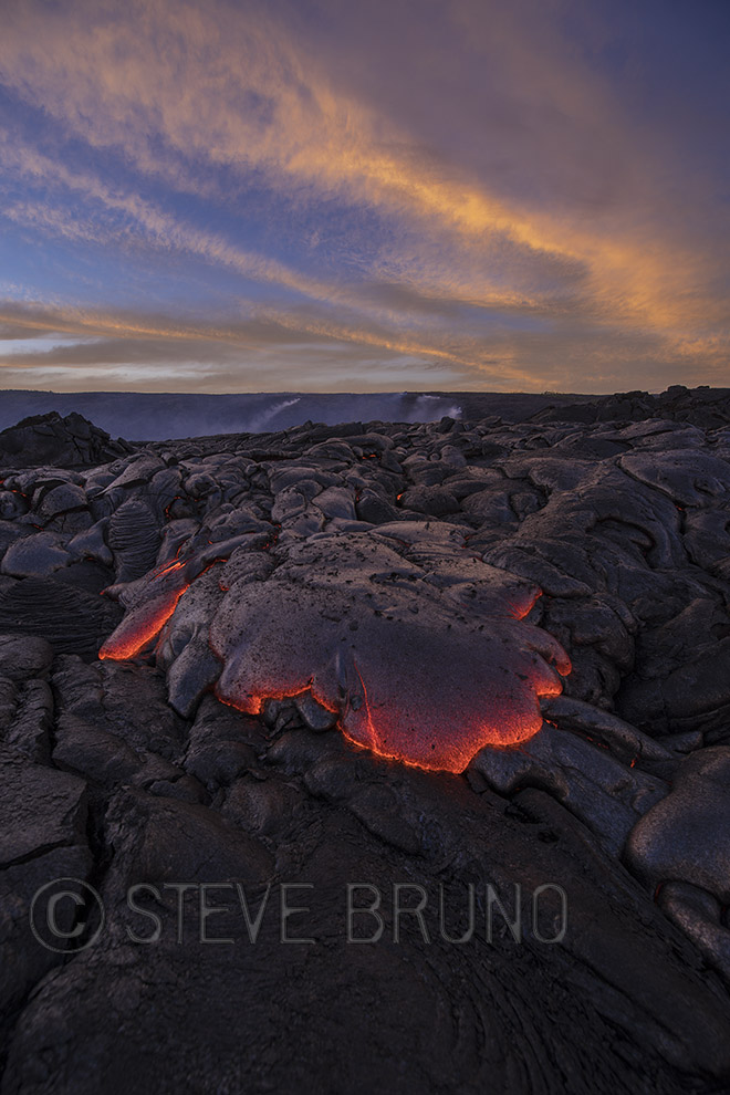 Hawaii, sunset, lava, Steve Bruno