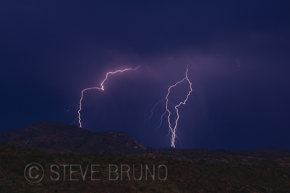 lightning, desert, Arizona