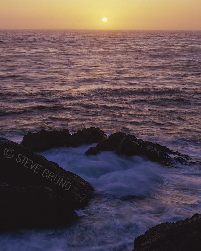 Pacific Ocean, sunset, California