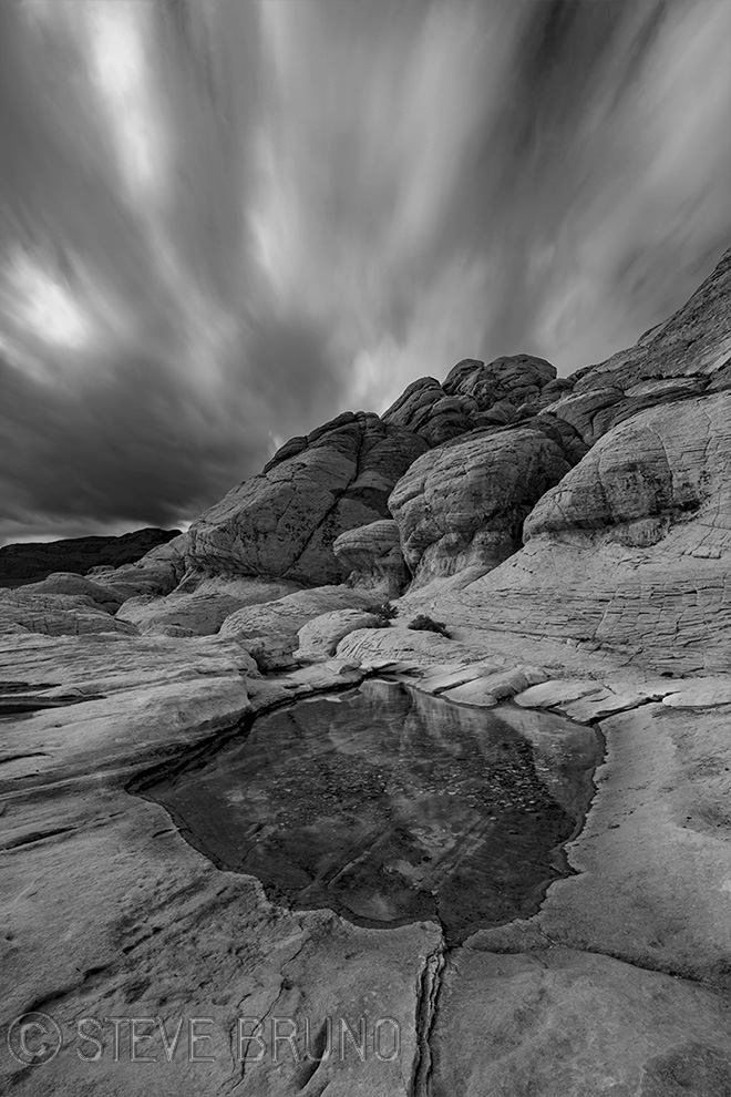 Red Rock Canyon, Nevada, storm, long exposure