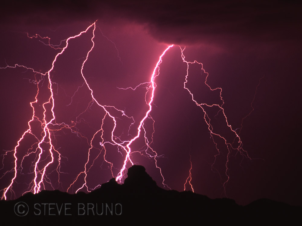 lightning, Arizona, monsoon, desert, Steve Bruno