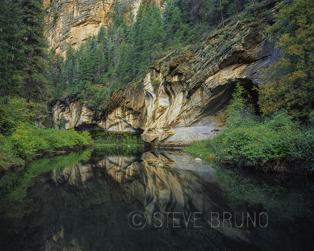 West Clear Creek, Mogollon Rim, Arizona, reflection, Steve Bruno