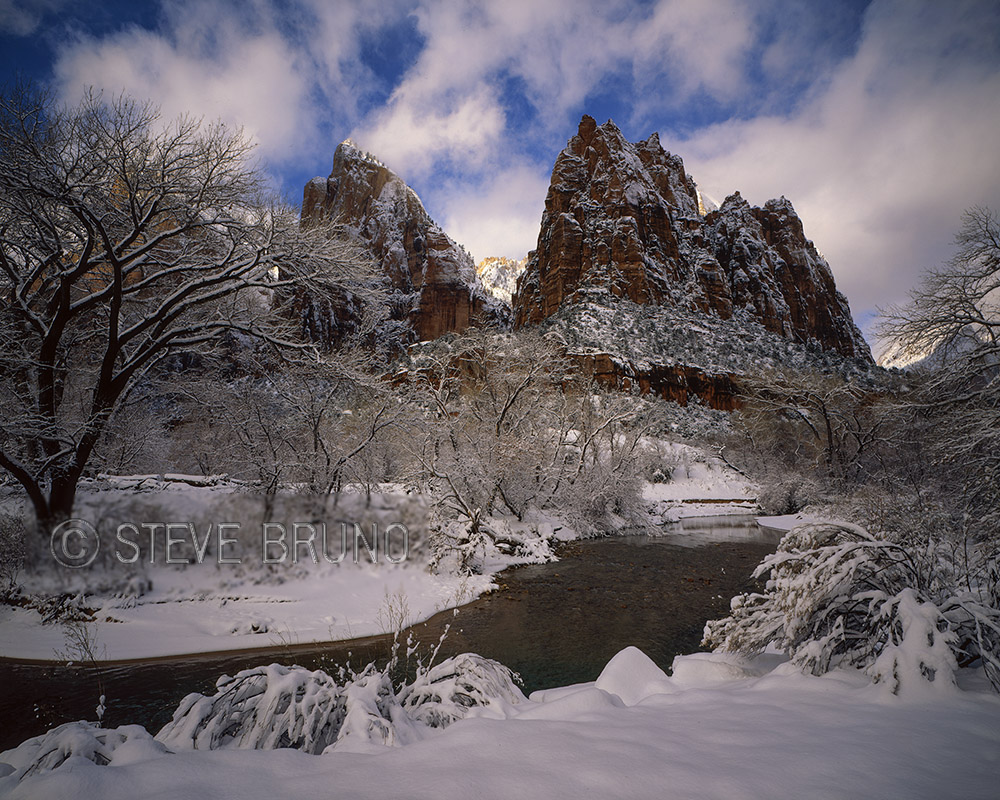 Zion, National Park, Utah, winter, landscape photography, Steve Bruno