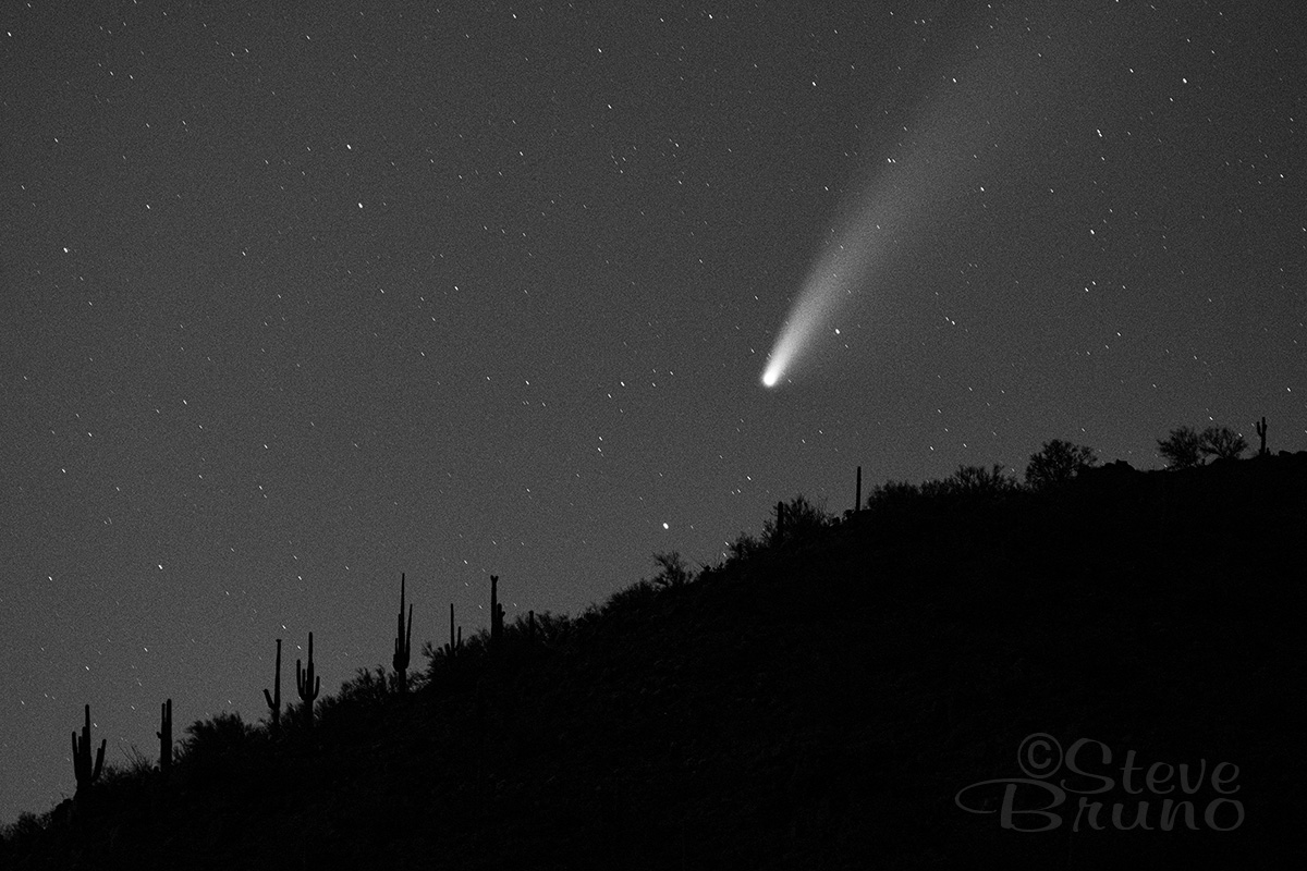 comet, desert, night skies, Arizona
