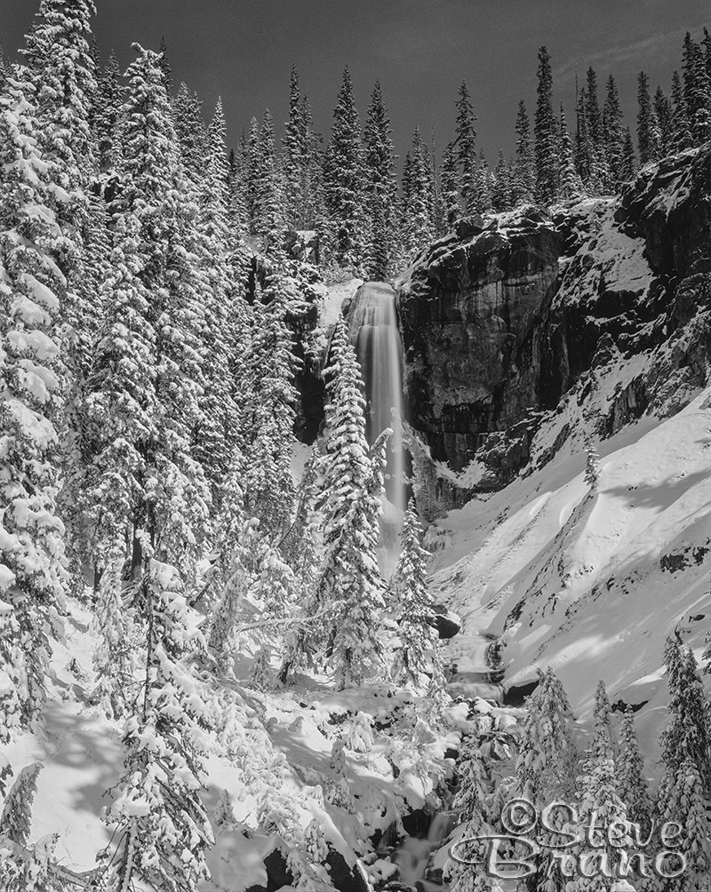 waterfall, Colorado, snowfall, Steve Bruno, Wolf Creek Pass