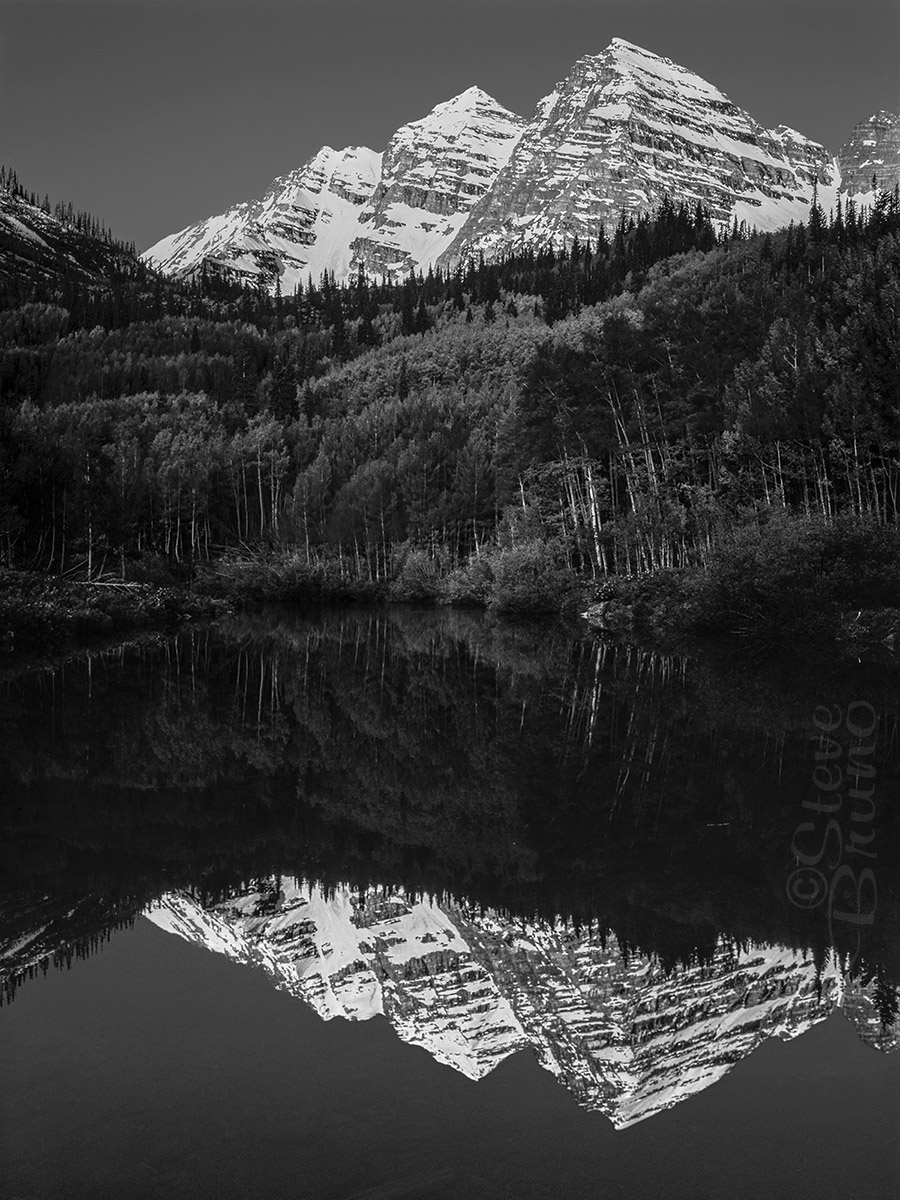 Colorado, reflection, Maroon Bells, Steve Bruno